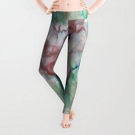 Colorful watercolor marble Leggings