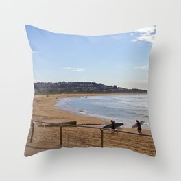 Surf Lesson Is In Throw Pillow