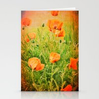 poppies Stationery Cards featuring POPPIES by Teresa Chipperfield Studios