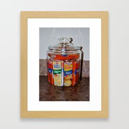 Grandma's Cracker Jar Framed Art Print