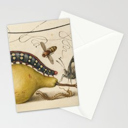 Pear Butterfly Caterpillar Stationery Cards