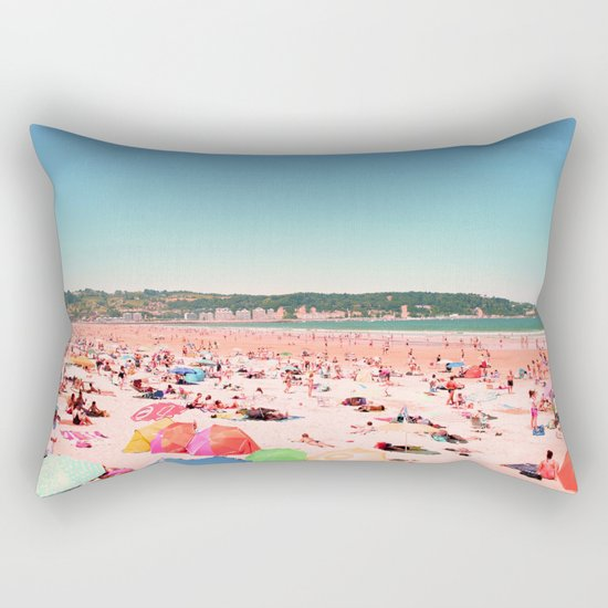 Greetings From The Most Colorful Of Beaches Rectangular Pillow