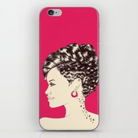 rihanna iPhone & iPod Skins featuring Rihanna by Chris Moran