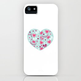 Valentines Day Heart #6 - Key to My Heart iPhone Case