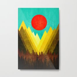 Mountains XVI Metal Print