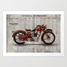 Triumph Speed Twin 1939 Art Print