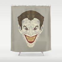 joker Shower Curtains featuring Joker by Fabio Piazzi