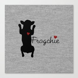 Frogchie French Bulldog Canvas Print
