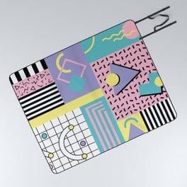 Memphis Pattern 27 - 80s - 90s Retro / 1st year anniversary design Picnic Blanket