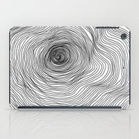 tree rings iPad Cases featuring Abstract Tree Rings by Michael James