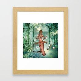 Wonderful mermaid Framed Art Print