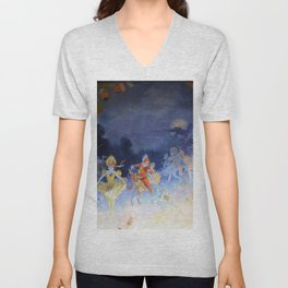 Vintage poster - Rideau Musee Grevin Unisex V-Neck