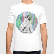 Space Finder White MEDIUM Mens Fitted Tee
