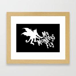 My Monkeys Fly Framed Art Print