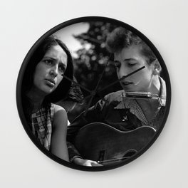 Bob Dylan and Joan Baez at the March on Washington, 1963 Wall Clock