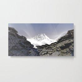Misty Mountains / / #fractal #fractals #3d Metal Print