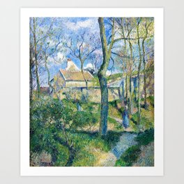 Camille Pissarro - The Path To Les Pouilleux, Pontoise - Digital Remastered Edition Art Print
