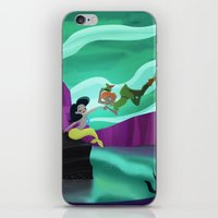 peter pan iPhone & iPod Skins featuring Peter Pan by enosay