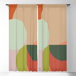 Abstract Geometric 2 #fallwinter #colortrend #decor Blackout Curtain