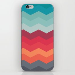 Color strips pattern iPhone Skin