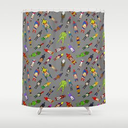Butt of Superhero Villian - Dark Shower Curtain