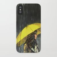 train iPhone & iPod Cases featuring All Upon the Downtown Train by Alice X. Zhang