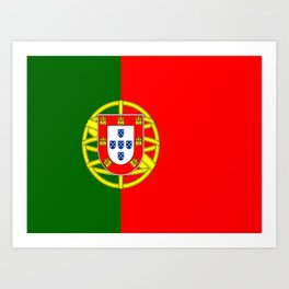 flag of portugal -Portuguese,mirandese,Portugués,lisbon,porto. Art Print