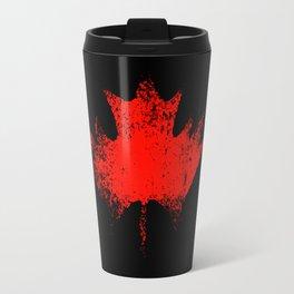 Maple leaf dark red Travel Mug