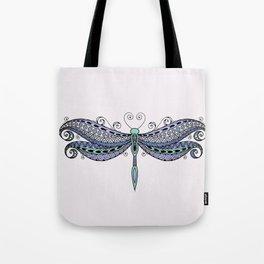 Dragonfly dreams purple Tote Bag