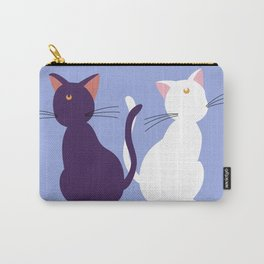 Luna & Artemis (Minimalist) - Blue Carry-All Pouch