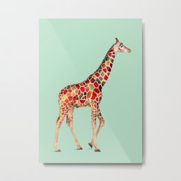 COLORED GIRAFFE Metal Print