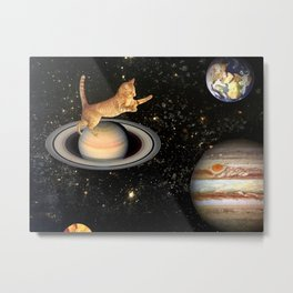 Cat.In.Space. Metal Print