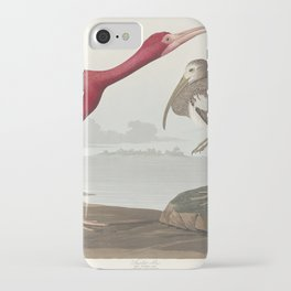 Scarlet Ibis from Birds of America (1827) by John James Audubon (1785 - 1851 ) etched by Robert Havell (1793 - 1878) iPhone Case