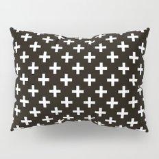 Criss Cross | Plus Sign | Black and White Pillow Sham