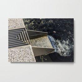 Water Chute Metal Print