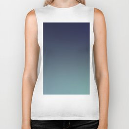 NIGHT SWIM - Minimal Plain Soft Mood Color Blend Prints Biker Tank