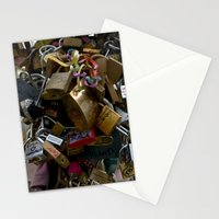 Lovers locks Stationery Cards