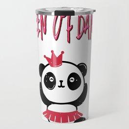 Queen Of Dance Ballerina Dancer Panda Bear Gifts Travel Mug
