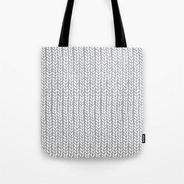 Knit Wave Grey Tote Bag