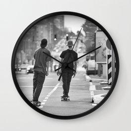 Skateboarding. Wall Clock