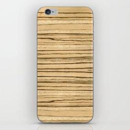 Zebrawood iPhone Skin