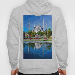 Blue mosque mandala Hoody