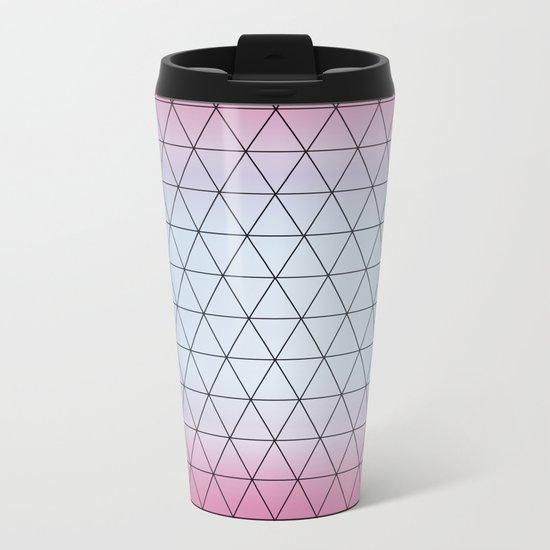 Eternity in Blue Pink Metal Travel Mug