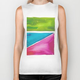 180811 Watercolor Block Swatches 5| Colorful Abstract |Geometrical Art Biker Tank