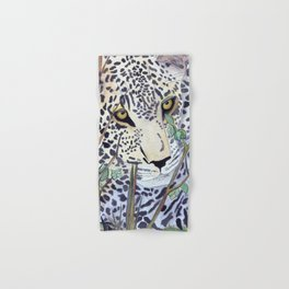 Never Resting - Leopard by Maureen Donovan Hand & Bath Towel