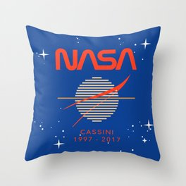 Cassini Probe 1997 - 2017 Throw Pillow
