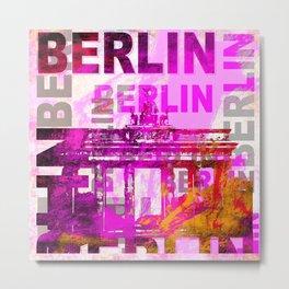 Berlin pop art typography illustration Metal Print