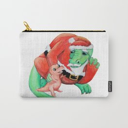 Baby T-Rex Visits Dragon Santa Carry-All Pouch
