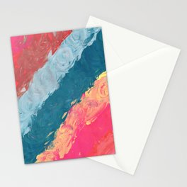 Rainbow Swirl Stationery Cards