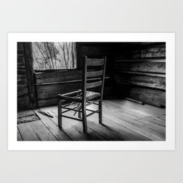 Broken Chair in BW Art Print